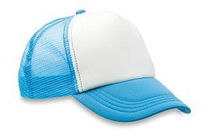 Blauwe trucker cap bedrukken